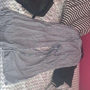 Forever 21 Striped Linen Pants